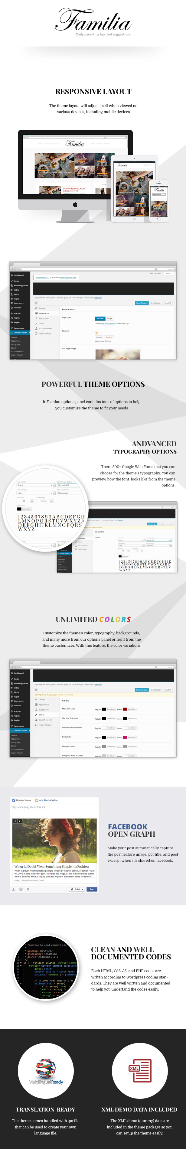 Personal Blog  Download Familia – WordPress Blog Theme nulled familia features