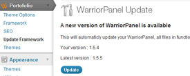 One-Click WarriorPanel Framework Update