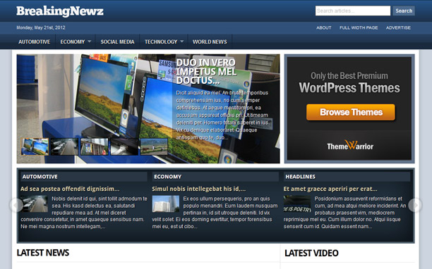 BreakingNewz - Homepage