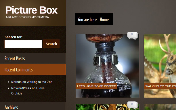 Picture Box - Brown