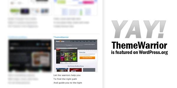 Themewarrior on WordPress.org