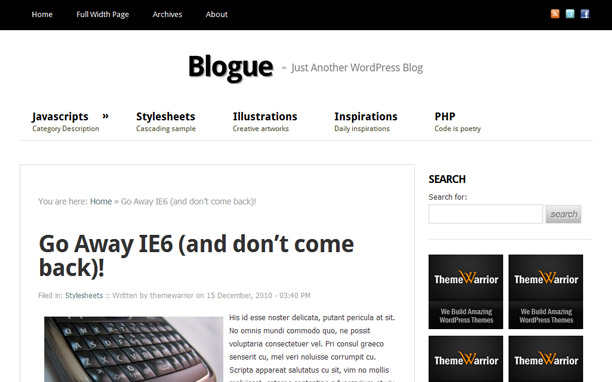 Blogue - Article Detail Page