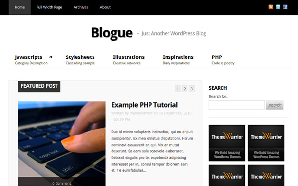 Blogue - Homepage