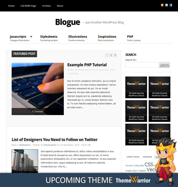 Blogue Preview