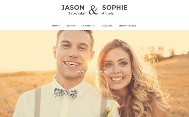 10+ Best WordPress Wedding Themes 2016