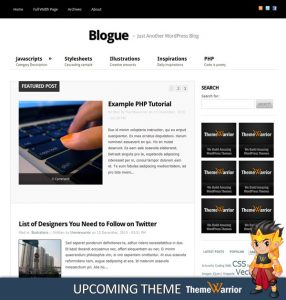 Sneak Peak: Blogue WordPress Theme