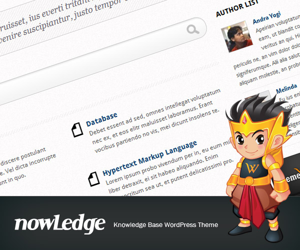 nowLedge - Knowledge Base WordPress Theme