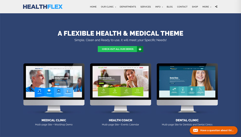 Healthflex WordPress Theme