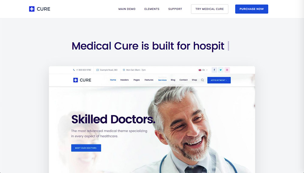 Medical Cure WordPress Theme