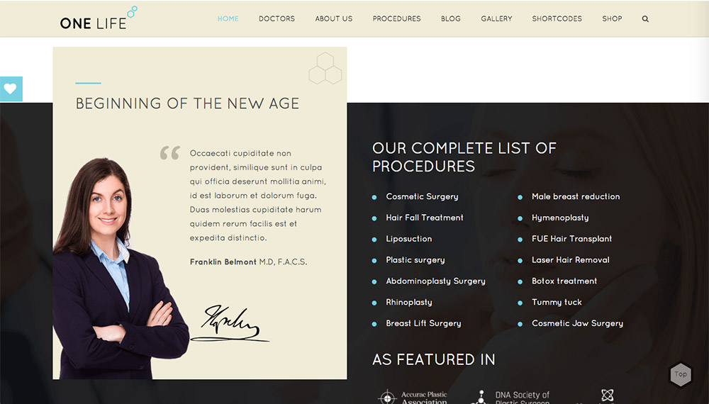 OneLife WordPress Theme