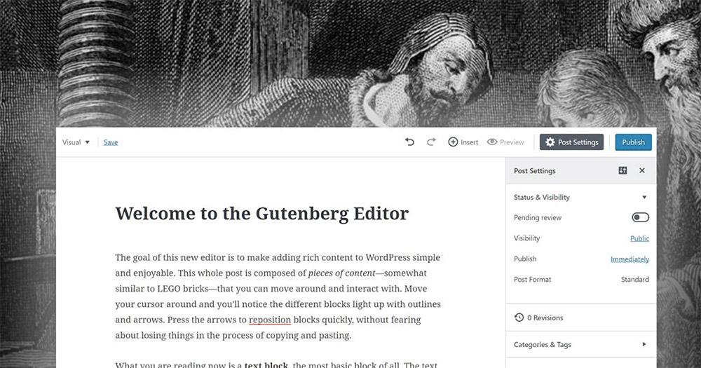 Gutenberg WordPress Content Editor