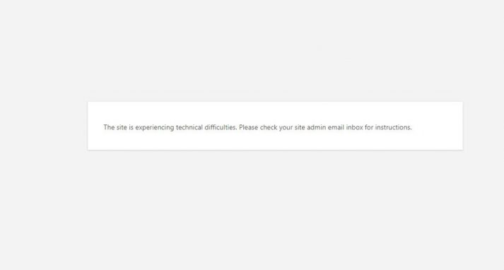 "How to Fix WordPress Error ""The site is experiencing technical difficulties"""
