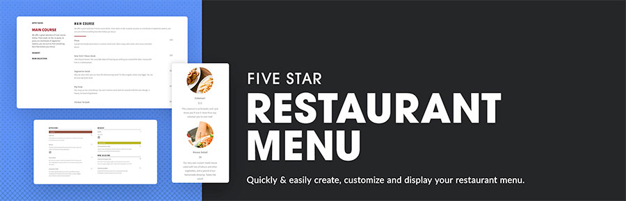 Five Star Restaurant Menu WordPress plugin