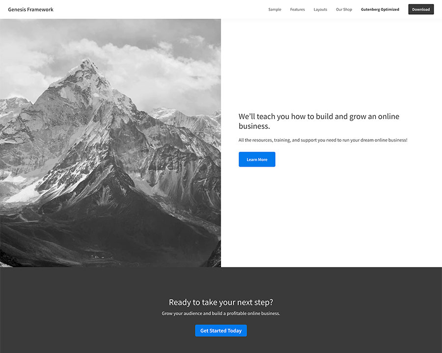 Genesis Framework WordPress theme